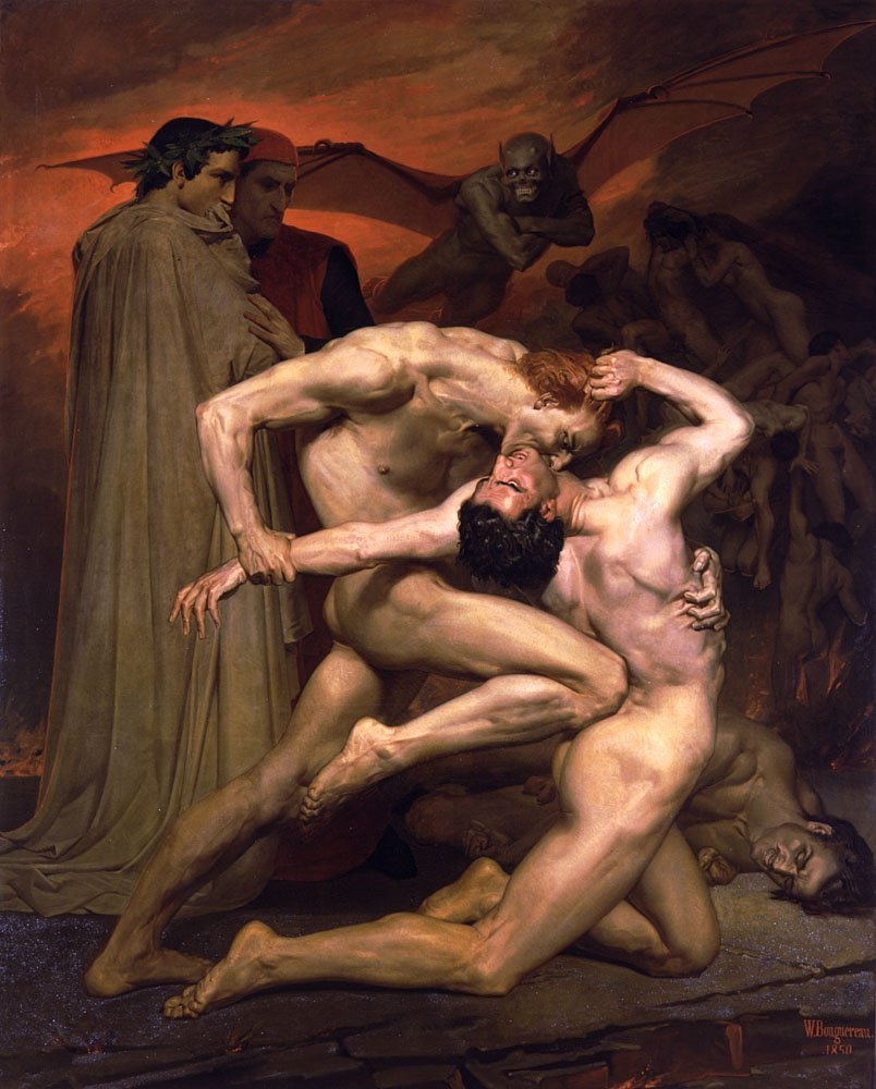 Dante Et Virgile Au Enfers | William Bouguereau | oil painting