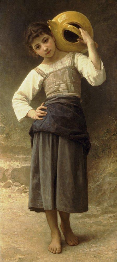 Jeune Fille Allant A La Fontaine | William Bouguereau | oil painting
