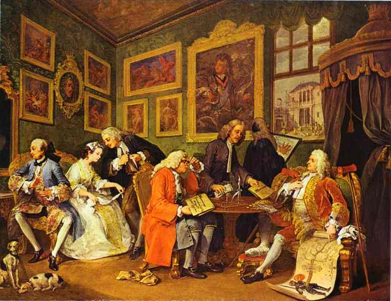 The Marriage Contract 1743   William Hogarth   oil painting