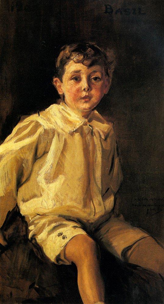 A Portrait Of basil Mundy   Joaquin Y Bastida Sorolla   oil painting