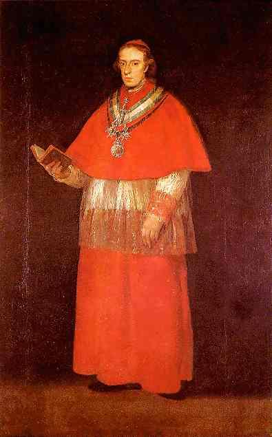 Cardinal Luis Maria De Borbon Y Vallabriga 1800 | Francisco De Goya | oil painting