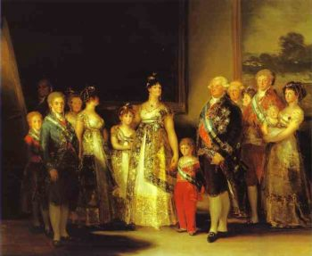 Charles Iv And His Family 1800 | Francisco De Goya | oil painting