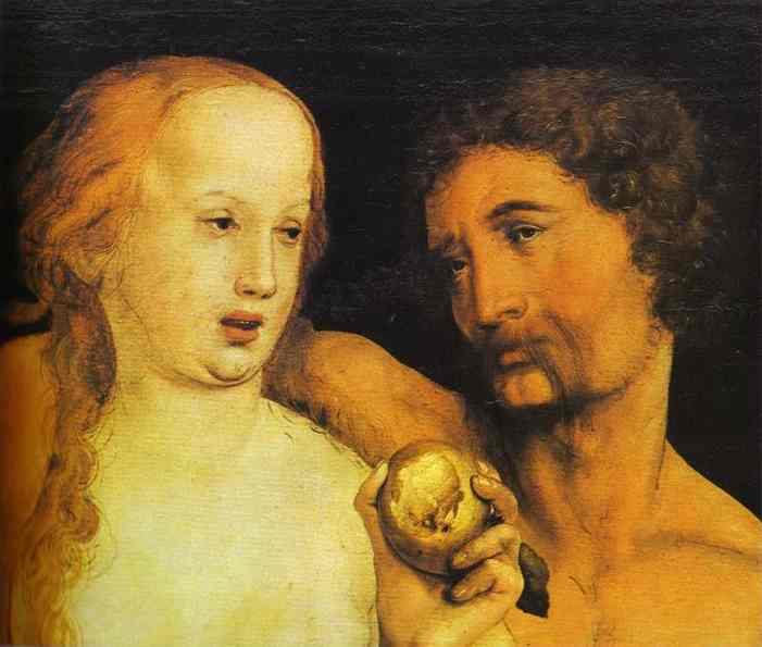 Adam And Eve 1517 | Younger Hans Holbein | oil painting