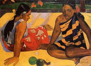 Parau api (aka What News) 1892 | Paul Gauguin | oil painting