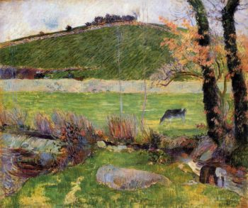 A Meadow on the Banks of the Aven 1888 | Paul Gauguin | oil painting