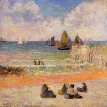 Bathing Dieppe 1885 | Paul Gauguin | oil painting