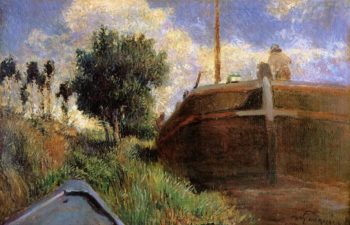Blue Barge 1882 | Paul Gauguin | oil painting