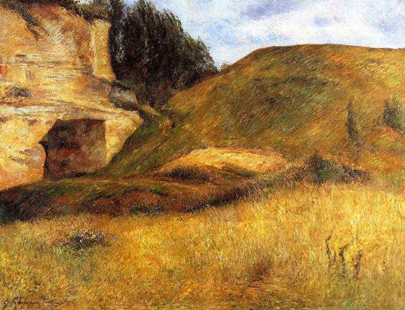 Chou Quarry Hole in the Cliff 1882 | Paul Gauguin | oil painting