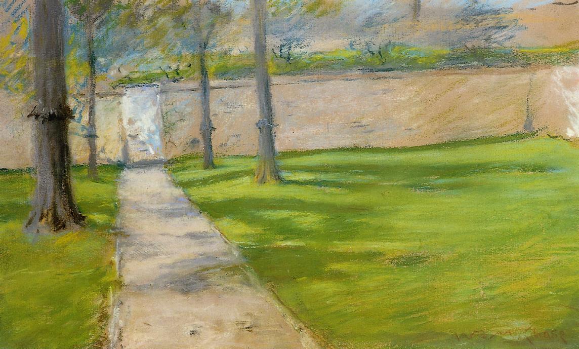 A Bit of Sunlight (aka The Garden Wass)  1888 | William Merritt Chase | oil painting