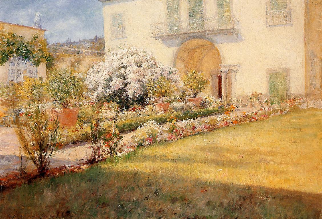 A Florentine Villa  1907-1909 | William Merritt Chase | oil painting
