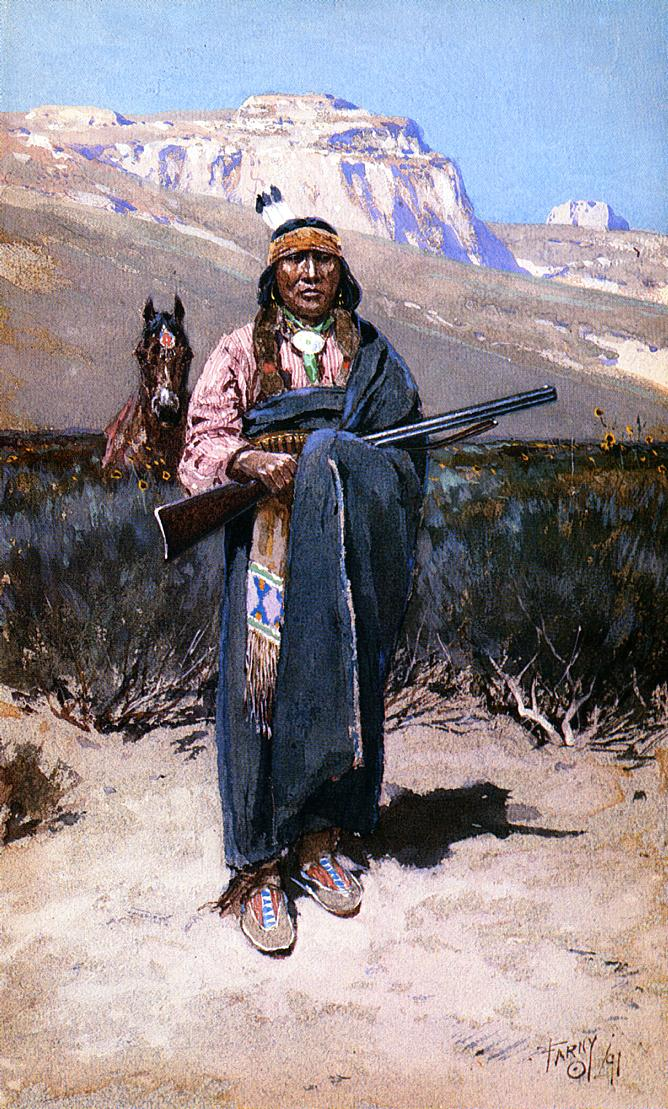 Indian Brave 1891 | Henry Farny | oil painting