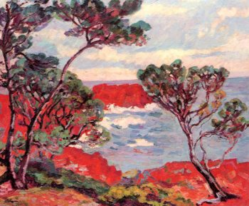 Red Rocks 1894   Armand Guillaumin   oil painting
