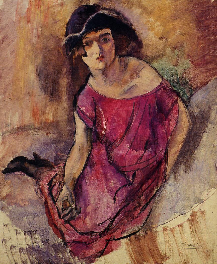 Beautiful English Girl 1916 | Jules Pascin | oil painting