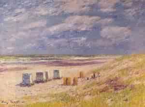The Egmond Beach Holland 1900   Henri Moret   oil painting