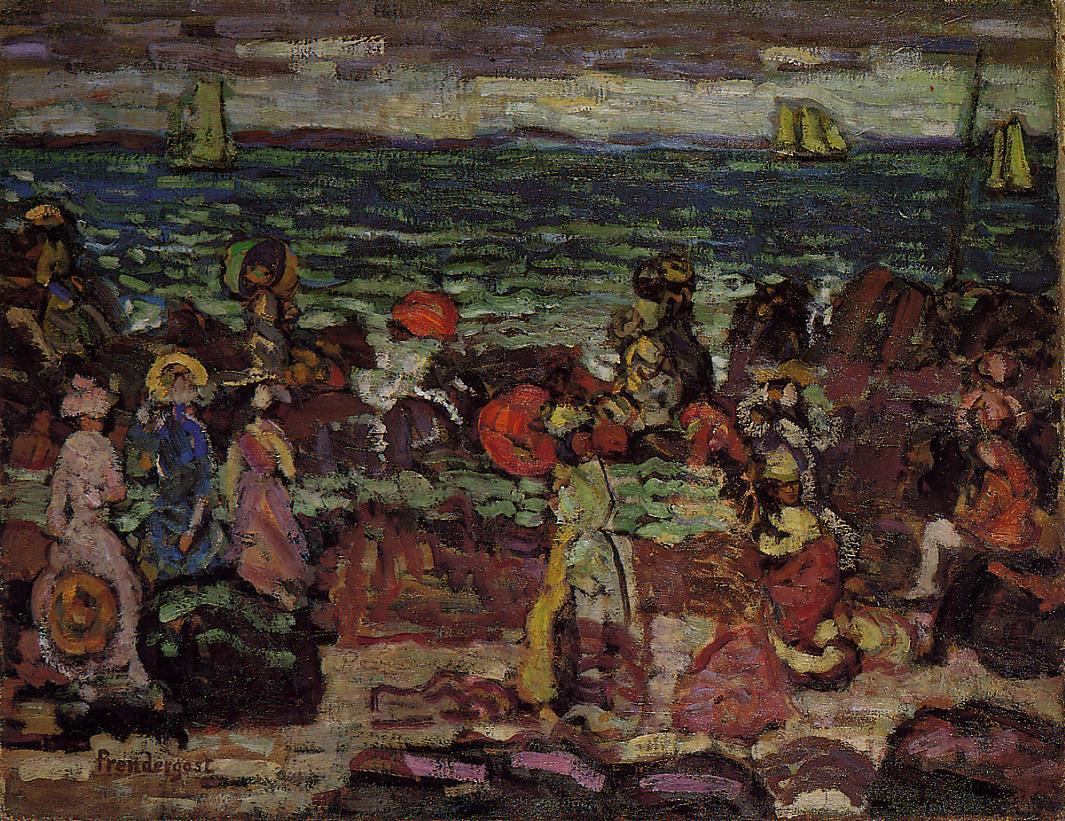 A Dark Day 1910-1913 | Maurice Predergast | oil painting