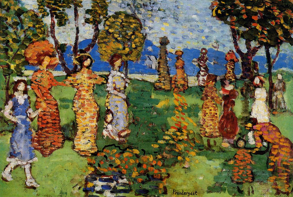 A Day in the Country 1914-1915 | Maurice Predergast | oil painting
