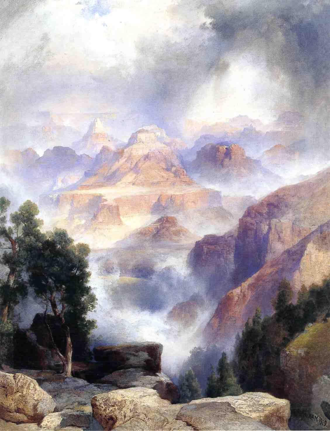 A Showrey Day Grand Canyon 1919 | Thomas Moran | oil painting