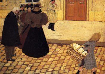Street Scene 1895 | Felix Vallotton | oil painting