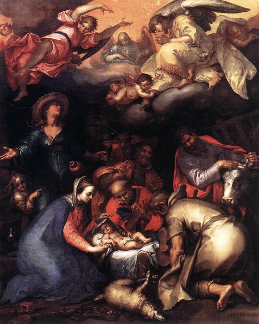 Adoration of the Shepherds 1612 | Abraham Bloemaert | oil painting