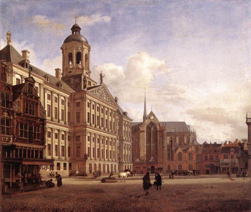 The New Town Hall in Amsterdam 1652 | Jan van der Heyden | oil painting
