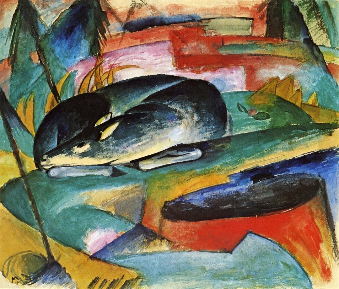 Sleeping Deer 1913 | Franz Marc | oil painting