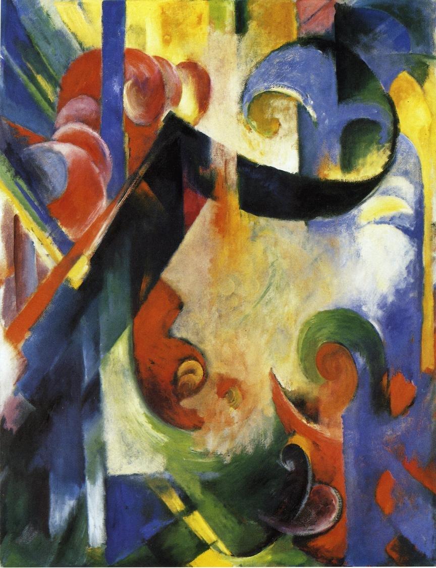 Broken Forms 1914 | Franz Marc | oil painting