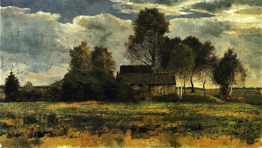 Cottages on the Dachau Marsh 1902 1910 | Franz Marc | oil painting