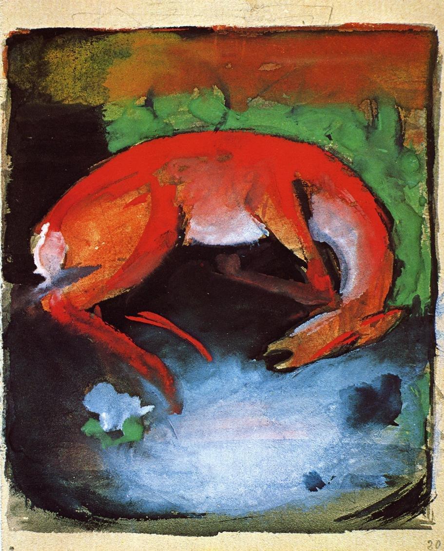 Dead Deer 1913 | Franz Marc | oil painting