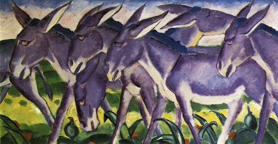 Donkey Frieze 1911 | Franz Marc | oil painting