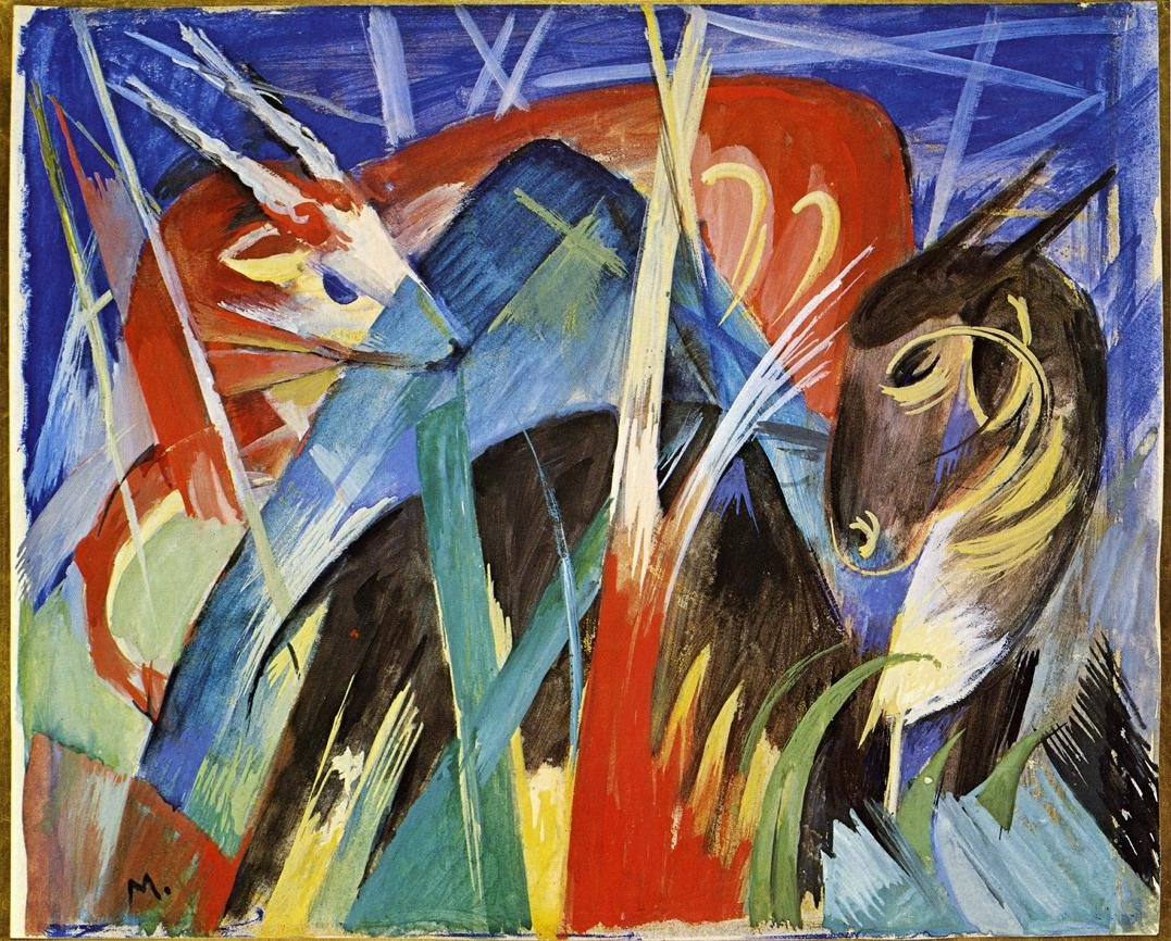 Fairy Animals 1913 | Franz Marc | oil painting
