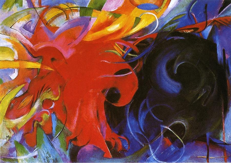Fighting Forms 1914 | Franz Marc | oil painting