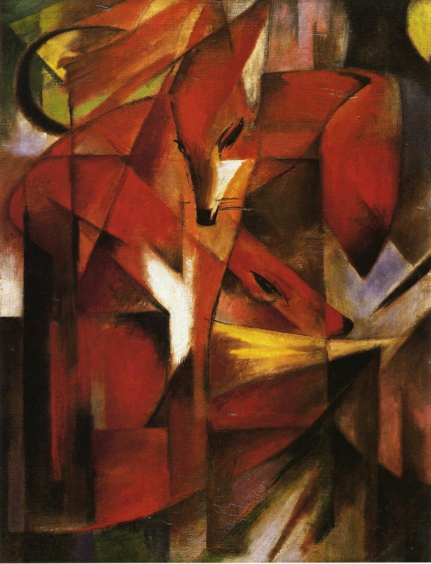 Foxes 1913 | Franz Marc | oil painting