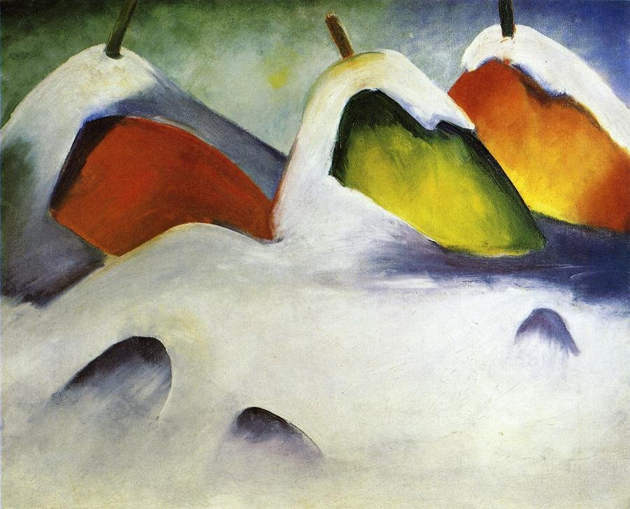 Haystacks in the Snow 1911 | Franz Marc | oil painting
