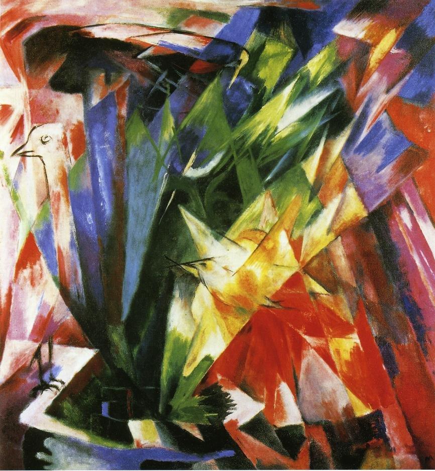 Birds 1914 | Franz Marc | oil painting