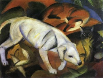 Three Animals Dog Fox and Cat 1912 | Franz Marc | oil painting