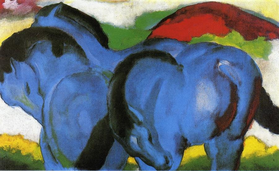 The Little Blue Horses 1911 | Franz Marc | oil painting