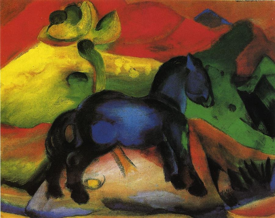 The Little Blue Horse 1912 | Franz Marc | oil painting