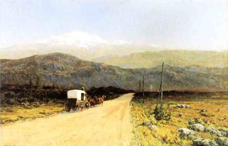 Covered Wagon on the Trail Date unknown | Picknell William Lamb | oil painting