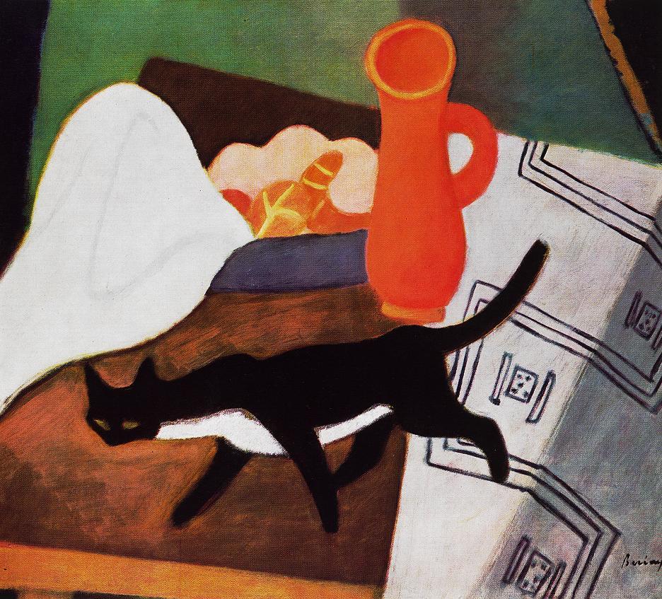 Cat and Still life 1930 | Robert Bereny | oil painting