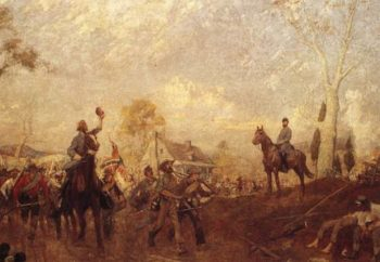 Cheering Stonewall Jackson 1861 | Charles Hoffbauer | oil painting