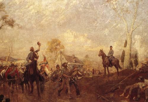 Cheering Stonewall Jackson 1861 | Charles Hoffbauer | oil painting