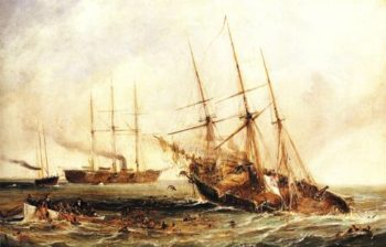 The Sinking Of The Alabama 1864 | Unkonwn Artist | oil painting