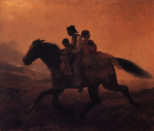 A Ride For Liberty The Fugitive Slaves 1862 to 1863 | Eastman Johnson | oil painting