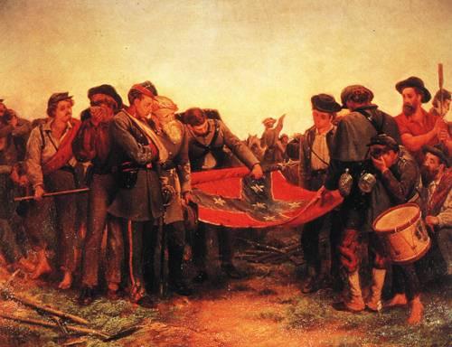 Furling The Flag 1872 | Richard Norrls Brooke | oil painting