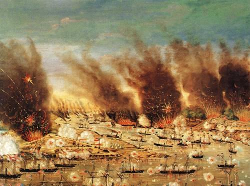Farraguts Fleet April 24th 1862 | Joffray N D | oil painting
