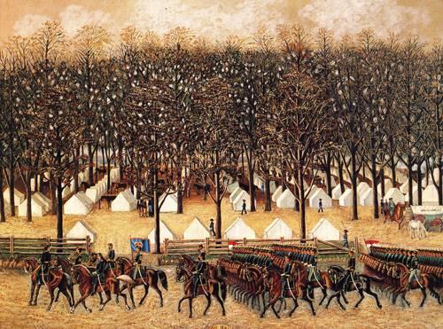 Mcclellan Drilling Troops 1861 | Unknown Artist | oil painting