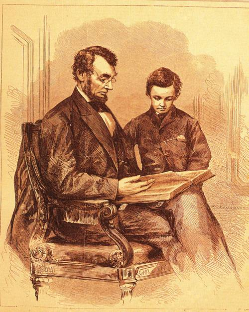 President Lincoln At Home 1865 | Anthony Berger | oil painting