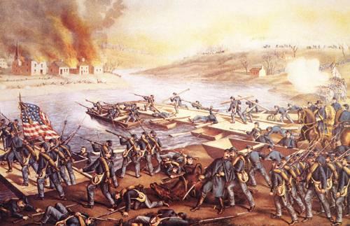 The Battle Of Fredericksburg 1862 | Currier Ives N D | oil painting