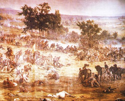 The Gettysburg Cyclorama Picketts Charge 1863 | Paul Philippoteaux | oil painting