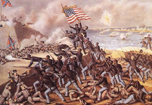 Storming Fort Wagner 1890 | Louis Kurz And Alexander Allison | oil painting